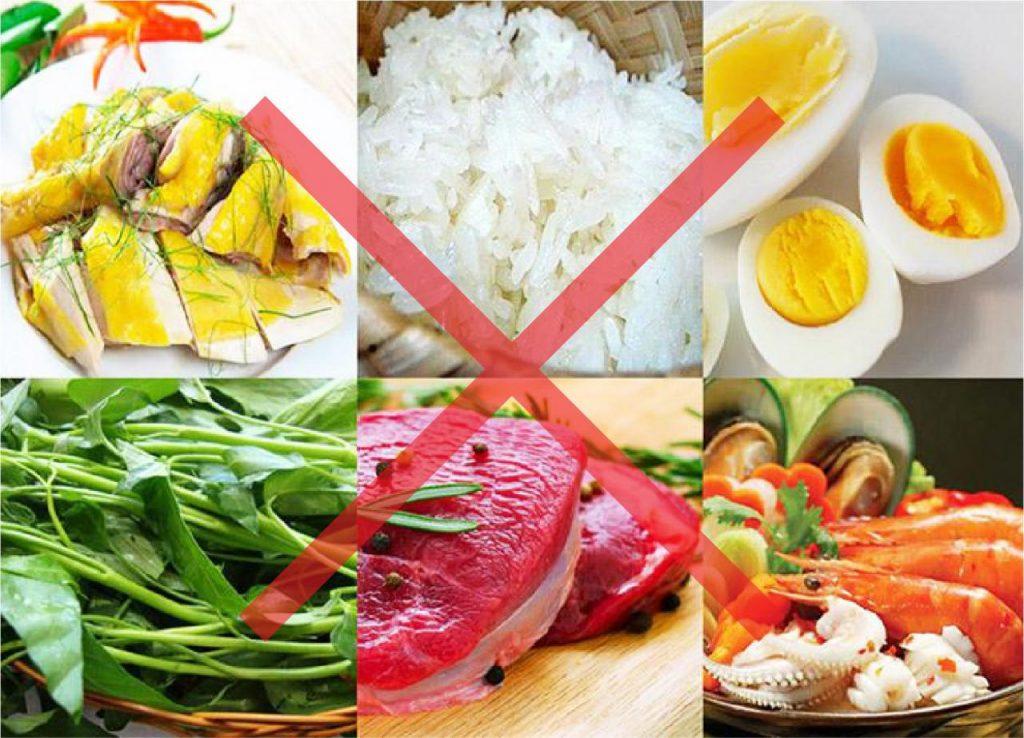 các thực phẩm gây sẹo