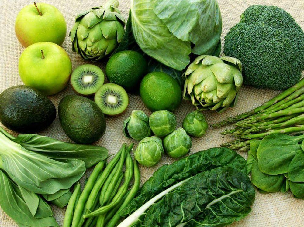 ăn nhiều rau xanh cho mau lành