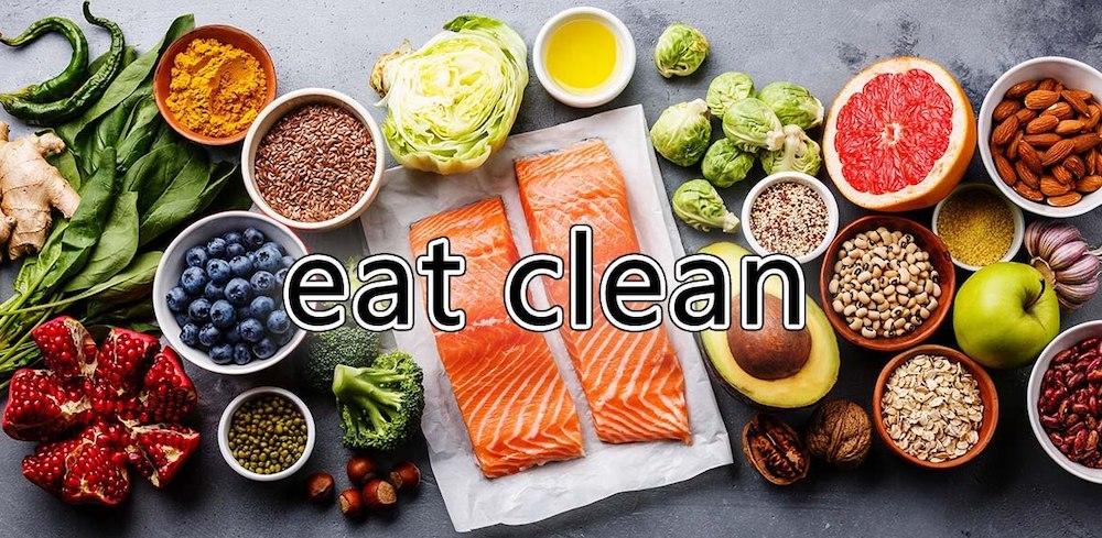 giảm cân bằng chế độ ăn eat clean