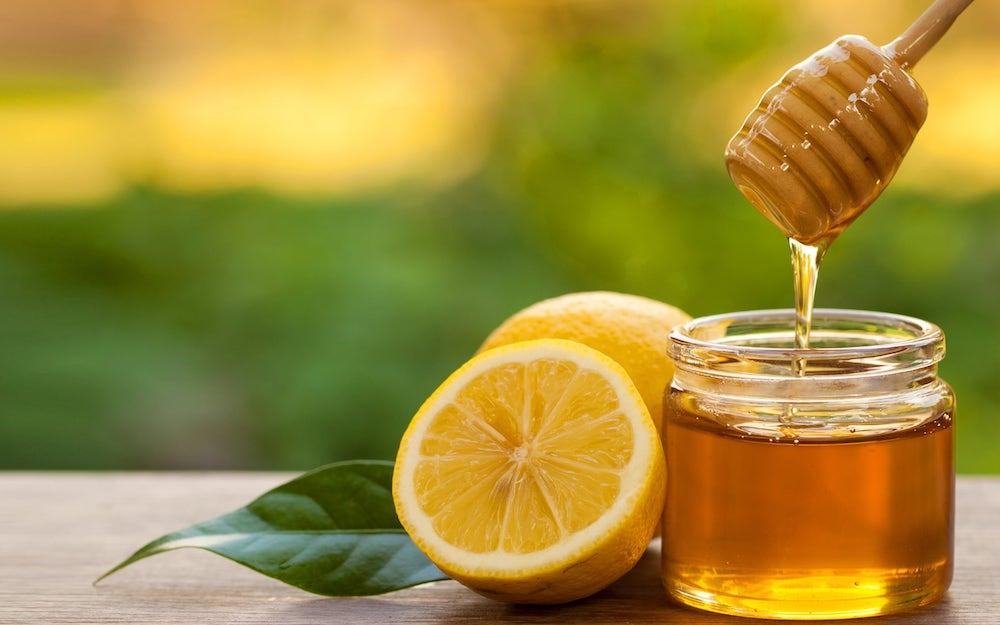 mật ong với chanh