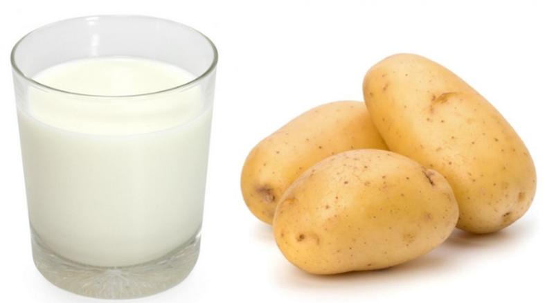 sữa tươi và khoai tây