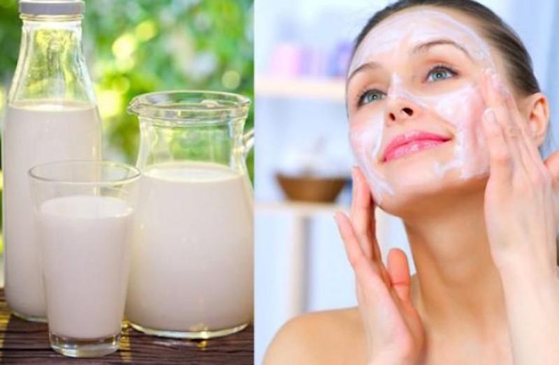 trắng da với mặt nạ sữa tươi