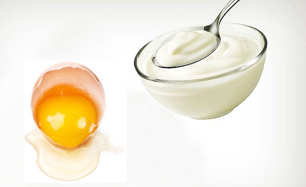 làm trắng với trứng và sữa chua