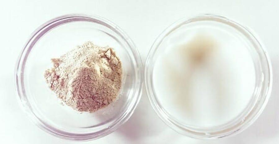 cách làm trắng da với sữa chua và cám gạo