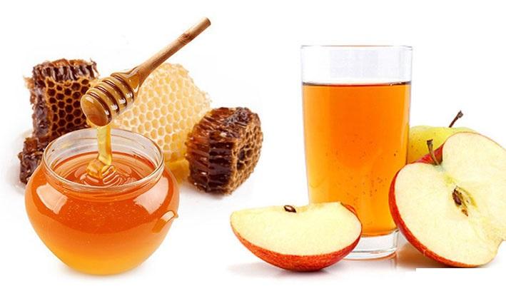 tra mật ong dấm táo