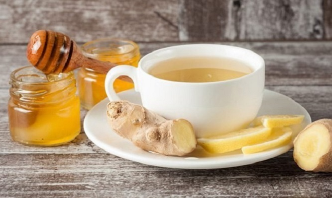 tra mật ong gừng giảm cân