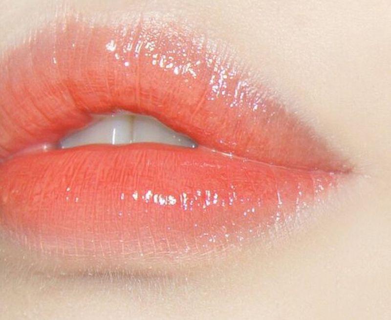 môi hồng cam