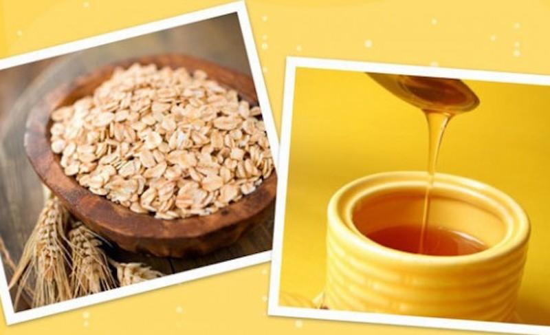 yến mạch và mật ong