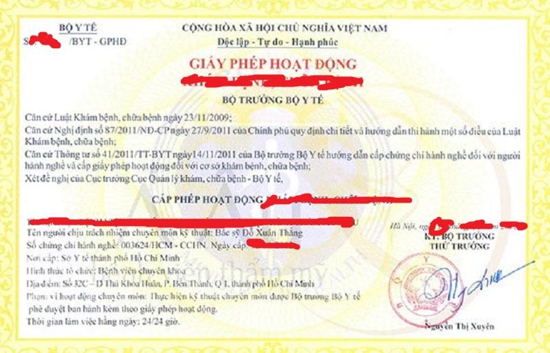 giấy phép hoạt động