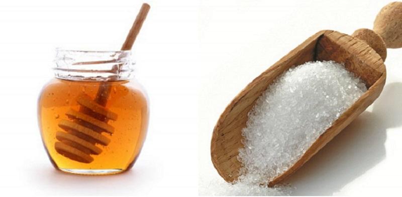 mật ong và đường