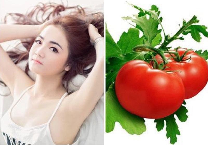 trị thâm nách bằng cà chua